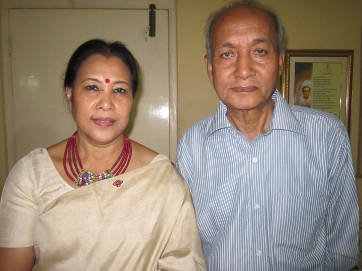 Assamese Actor Indra Bania with His Wife