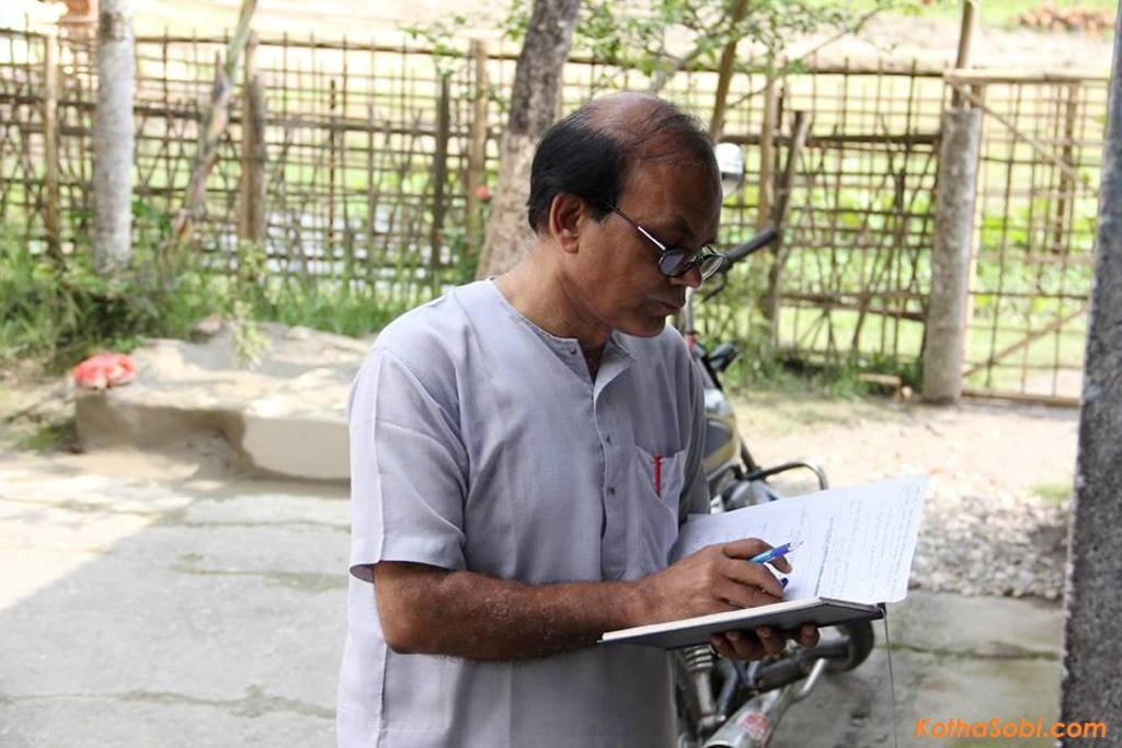 Director Dr. Sitanath Lahkar during the shooting of Assamese movie 'Aei Maatite'