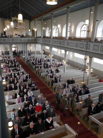 Kirkkopäivän jumalanpalvelukseen saapui yli 300 vierasta.