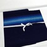 夏の暑さに、阿波正藍しじら織の単衣