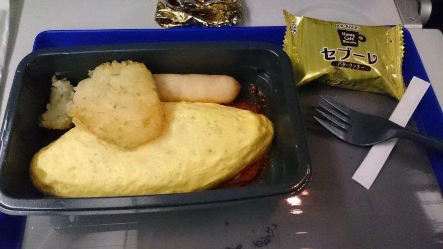 機内食朝食