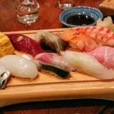 都立大学、寿司・空海で、美味しい肴と日本酒をいただく