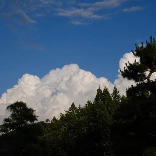 自宅から見た雲の写真