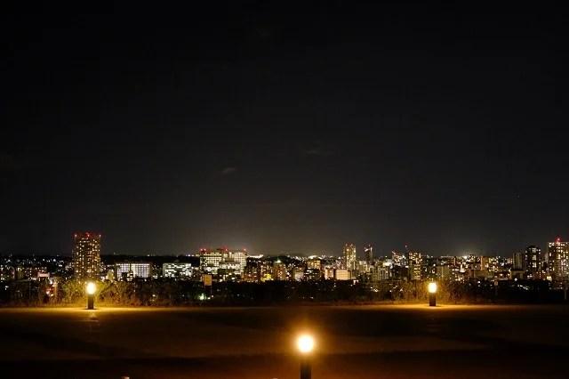 仙台城址公園の夜景写真