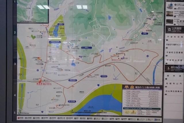 サイクルでの推奨ルートマップの写真