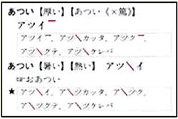 アクセント辞典「あつい」のページ