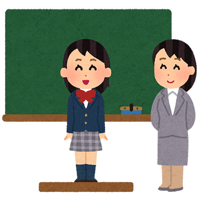 自己紹介をする女子学生
