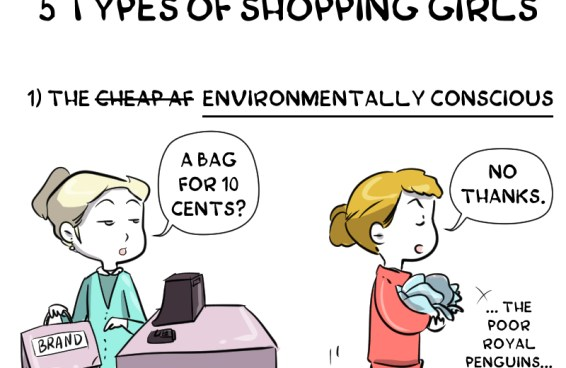 5 types of shopping girls