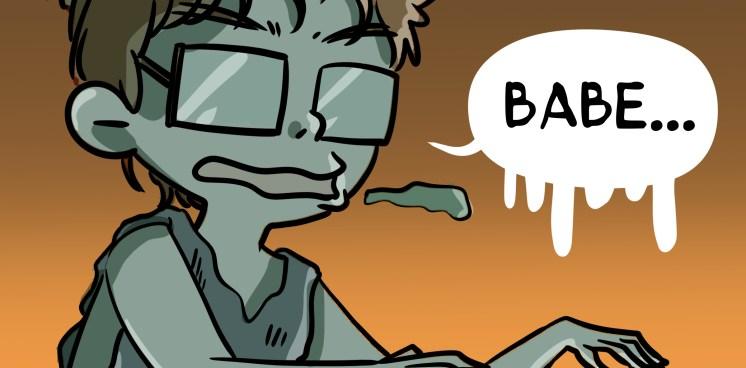 Zombie comic.