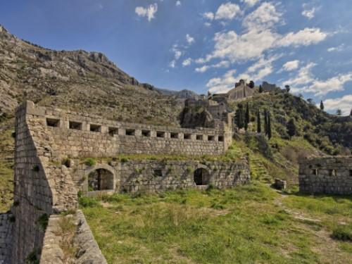 kotor old town kotor walls montenegro