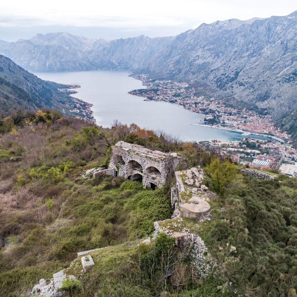 kotor fortifications montenegro