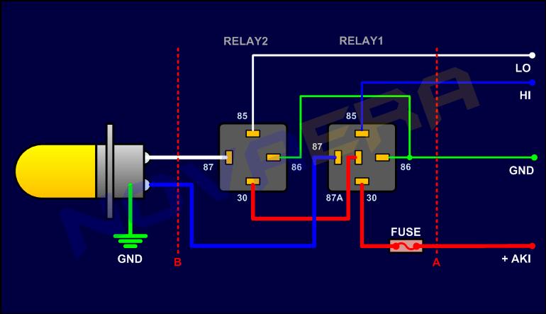 Memasang Relay untuk Headlamp | KoTsK