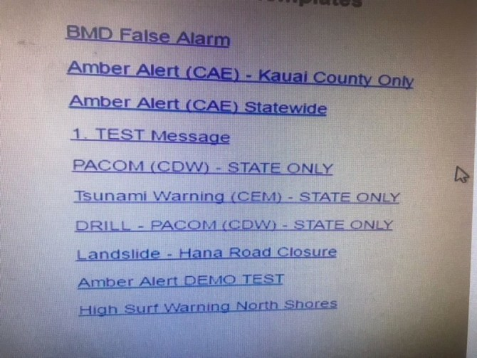Fake Hawaii Missile Alert