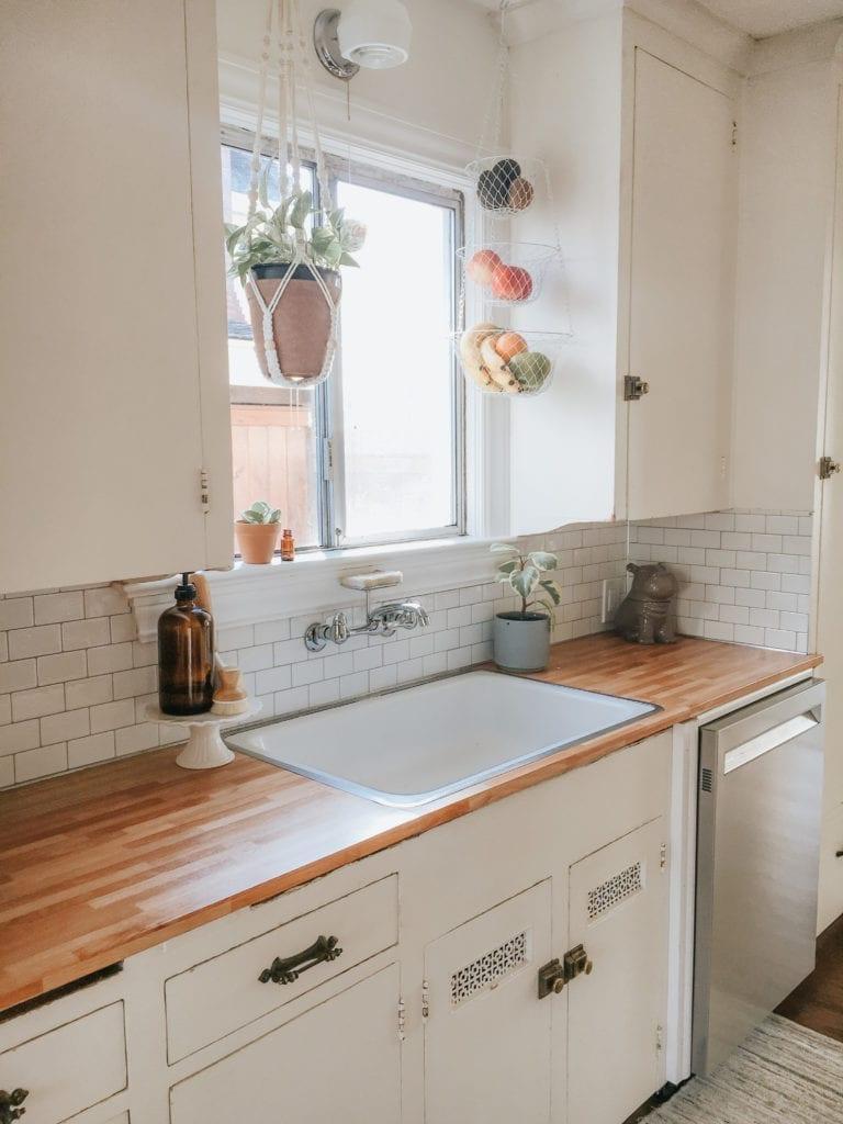 Faux Butcher Block Subway Tile Kitchen Makeover Ko Tuttle