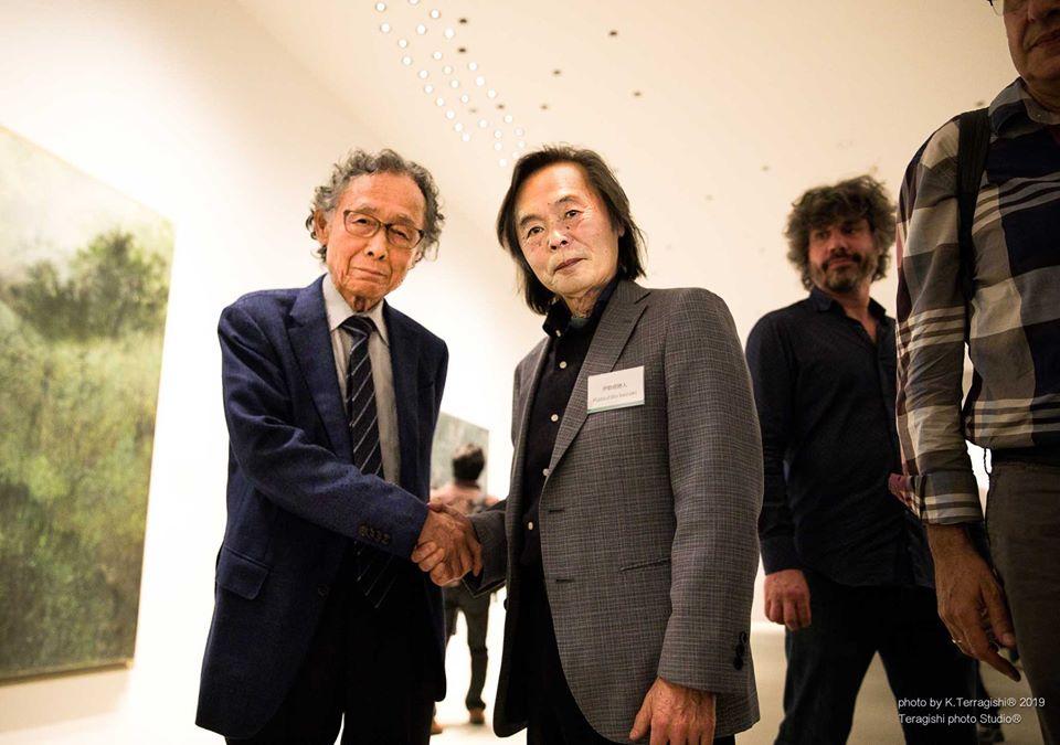 (写真は令和元年 5月16日、ホキ美術館にて野田弘志氏との再開)