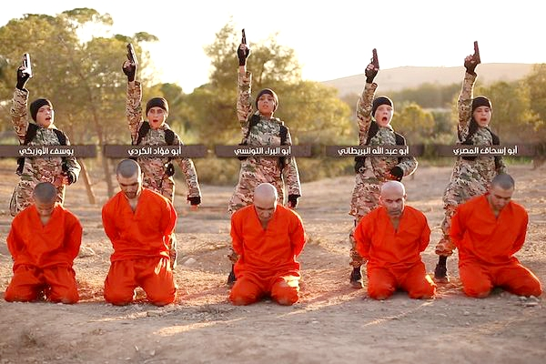Horrifying ISIS video shows 'British child' executing prisoners in Raqqah