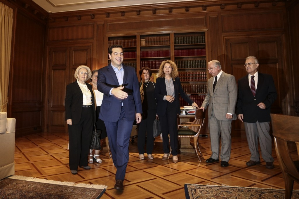 Meeting between the Prime Minister of Greece, Alexis Tsipras, and the presidents of the three Greek supreme courts, in Athnes, on Oct.6, 2016 / Συνάντηση του Πρωθυπουργού Αλέξη Τσίπρα με τους πρόεδρους των τριών ανώτατων δικαστηρίων, στην Αθήνα, στις 6 Οκτωβρίου, 2016