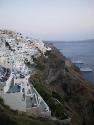 The magnificence of the caldera in Fira. I couldn't help but stare with my mouth open.