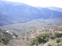 The valley on the foot of the village.