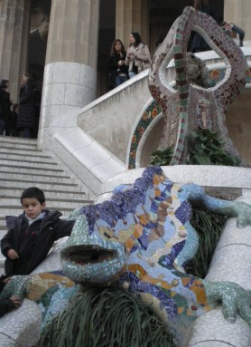 "Probably the world's most famous lizard, ""El Drac"" (the Dragon), another architectural miracle of Antoni Gaudí. You can easily meet him in Park Güell where he hangs out."