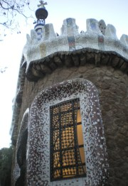 In Park Güell, I believe that the gatekeeper would be a higly satisfied man having a place like this to live in.