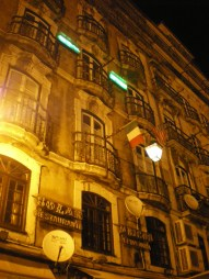 Very old building at Alfama, by night.