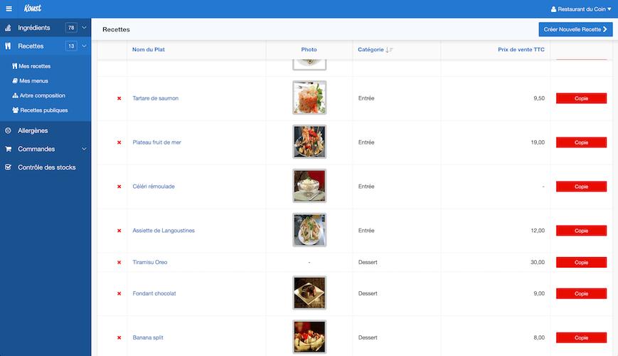 Application recette cuisine
