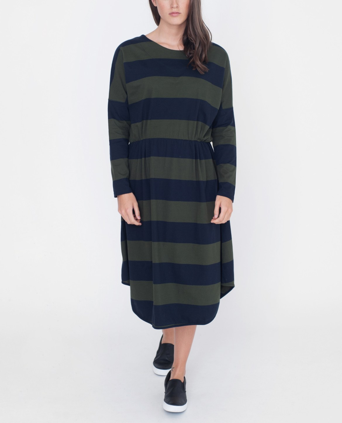 sarah-beaumont-organic-organic-cotton-dress-in-navy-and-green-stripe-1