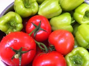Ingredients for yemista