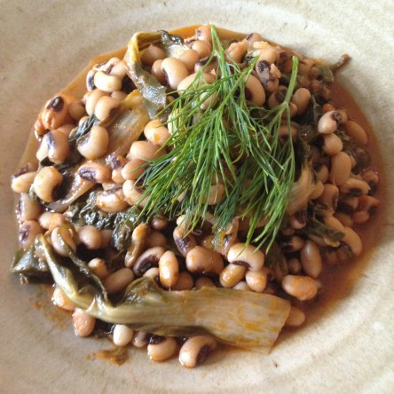 Black Eye Beans With Chard
