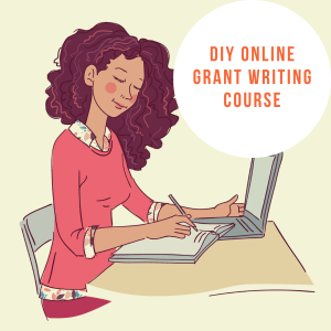 DIY online grant writing course by cover page