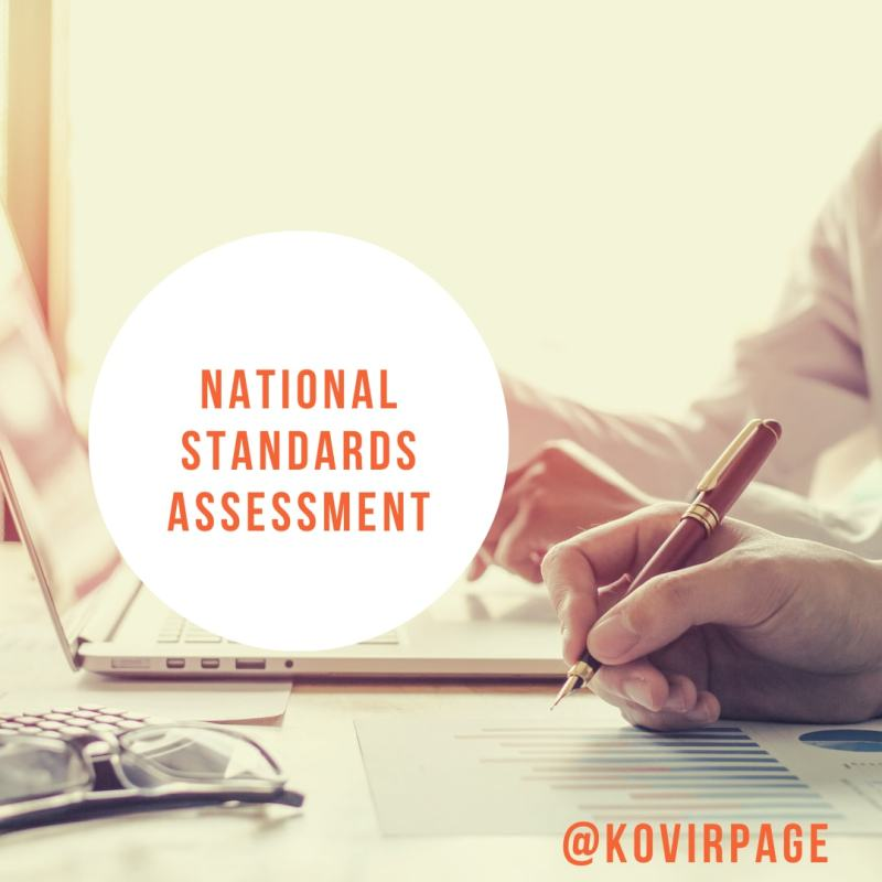 nation standards assessment by cover page