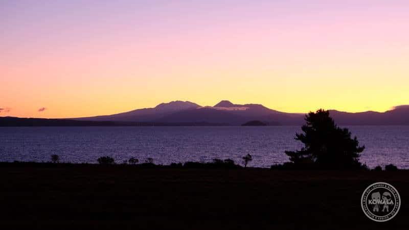 Couchsurfing Nouvelle-Zelande coucher soleil
