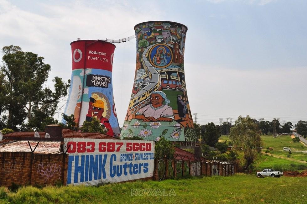 Tours de refroidissement de l'orlando power station à Soweto