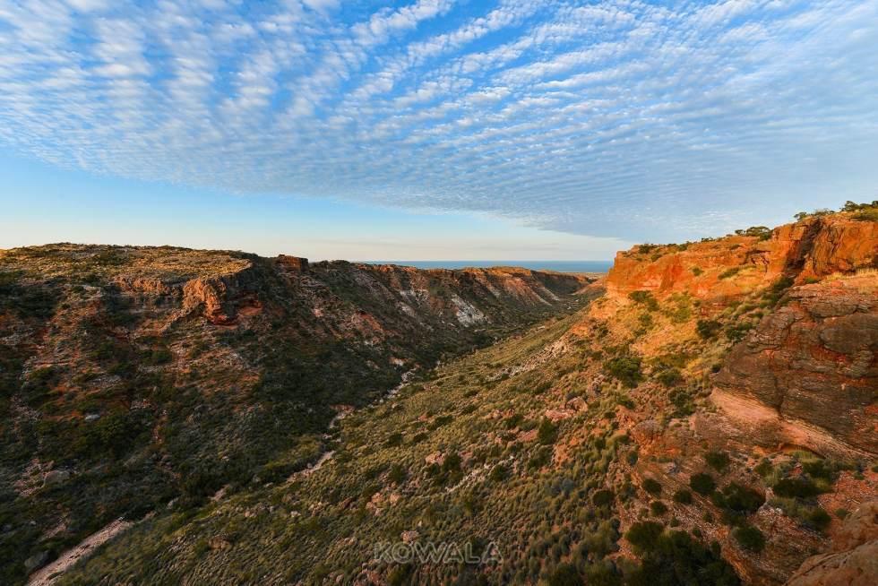 coucher de soleil sunset charles knife gorge cape range national park western australia