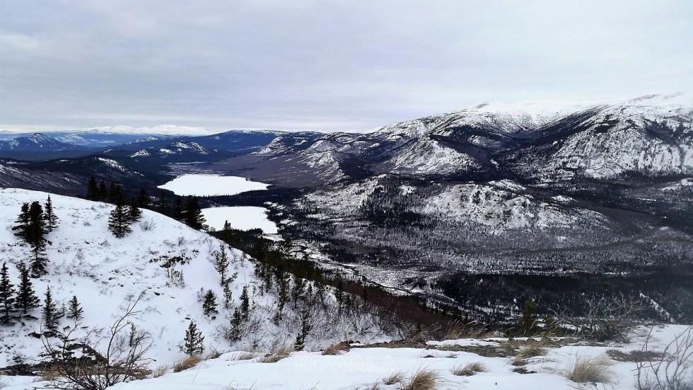 randonnées en hiver au Yukon - Vista summit