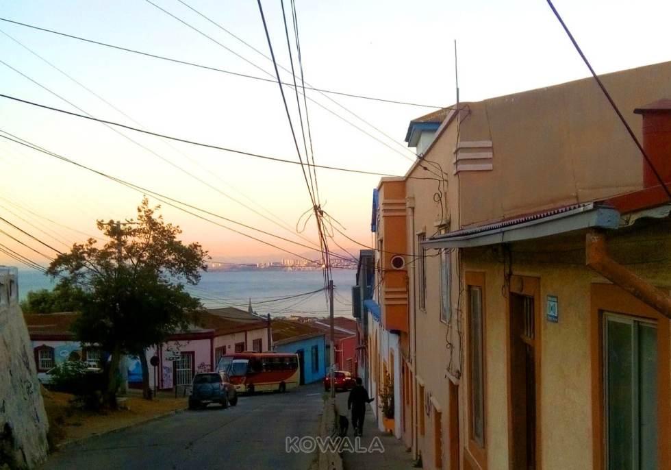 Coucher de soleil à Valparaíso