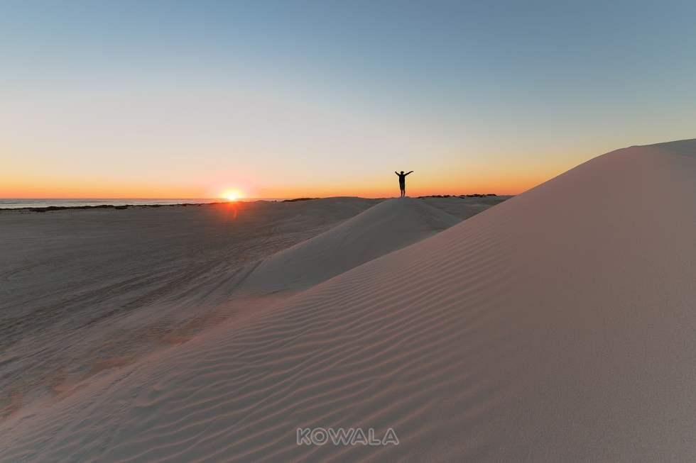 Lancelin Sand Dunes WA Australie Backpacker PVT Road Trip
