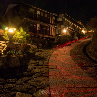 Lightpainting nuit Magome Japon