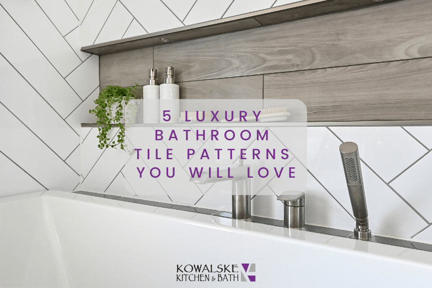 5 luxury bathroom tile patterns you