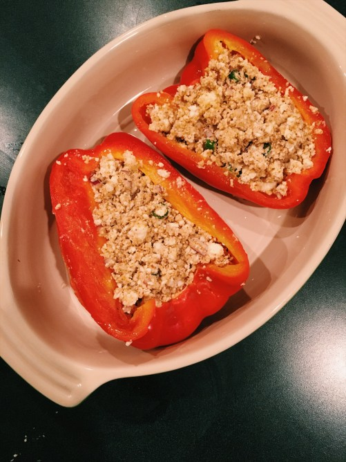 Stuffed bell peppers with paneer