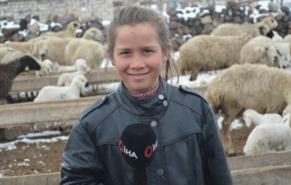 Yaşı 11… Ama o tam bir çoban… Kardelen'in öyküsü…