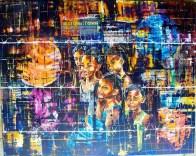 """""""Zenfan nu cite"""" : L'illustration sélectionnée pour le Barclays Atelier Art Contest – """"Art Needs You"""" 2016 à Johannesburg. Le tableau concerne les enfants vivant dans des régions pauvres de Maurice qui, malgré les nombreux défis auxquels ils sont confrontés, ont aussi des rêves."""