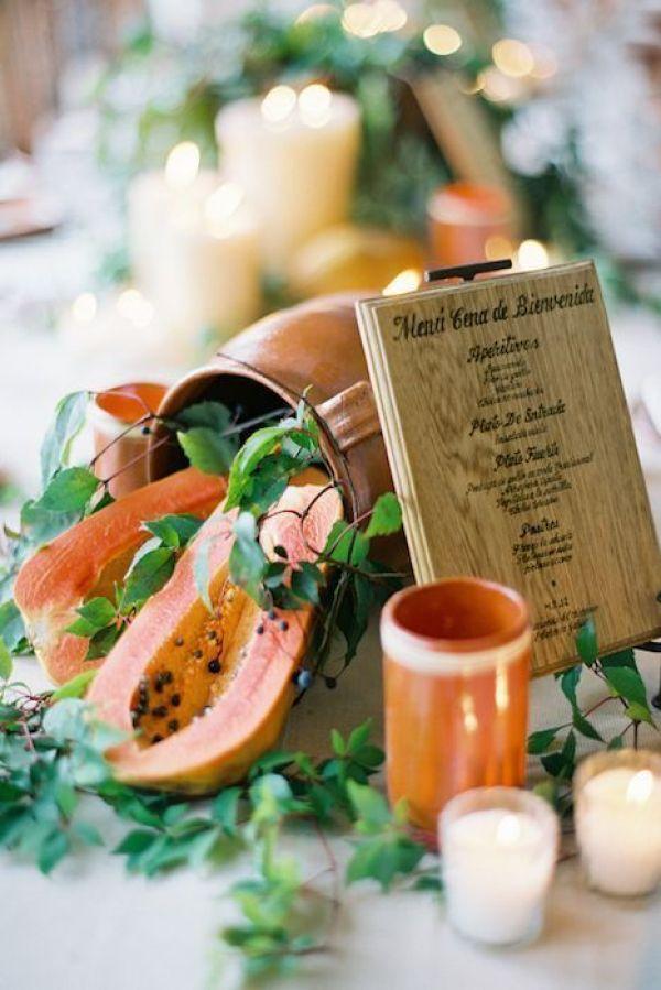 Pequeños menus de madera
