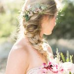 trenza lateral con flores para tu evento, catering madrid