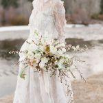 novia delicada, flores para una boda