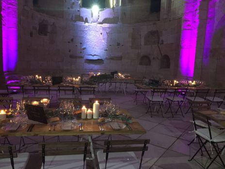 Iluminación. Boda en el monasterio, de Kozinart catering Madrid