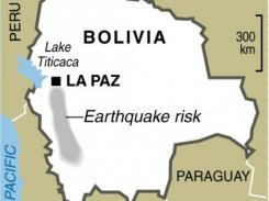 Earthquake in Chile, Bolivia