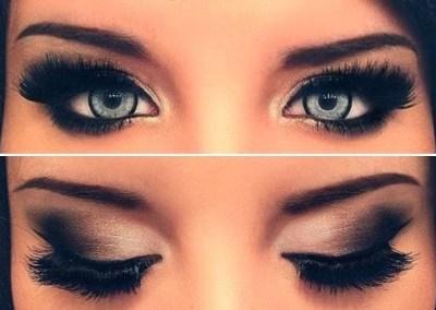 Šminkanje očiju crnom senkom
