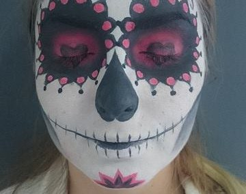 CANDY SKULL – sa nastave na predmetu Body art, studenti smera Makeup artist